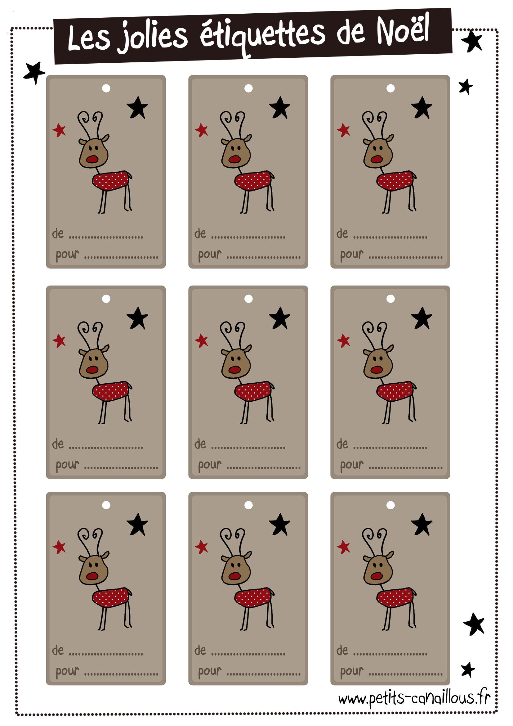 Diy Noël] 20 Planches D'étiquettes À Imprimer Gratuitement avec Etiquette Noel À Imprimer