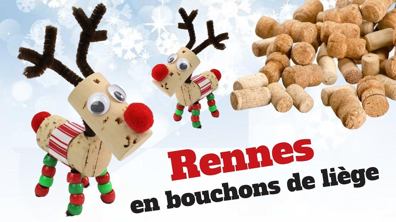 Diy Noël - Comment Fabriquer Un Renne Du Père Noël Avec Des Bouchons De  Liège ? dedans Fabrication De Pere Noel