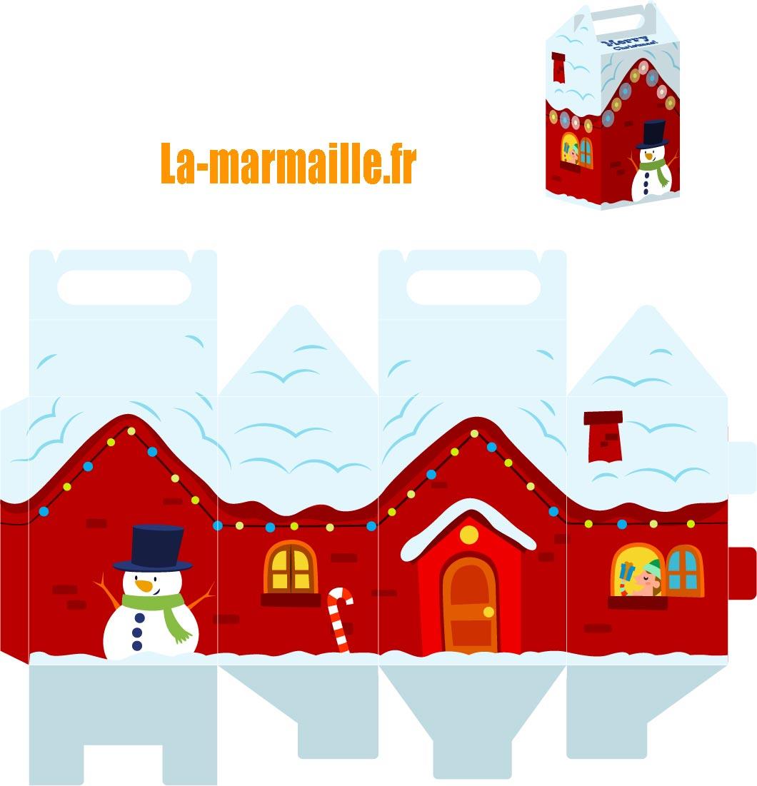 Diy Noël : Emballage Cadeau À Imprimer encequiconcerne Boite De Noel A Imprimer
