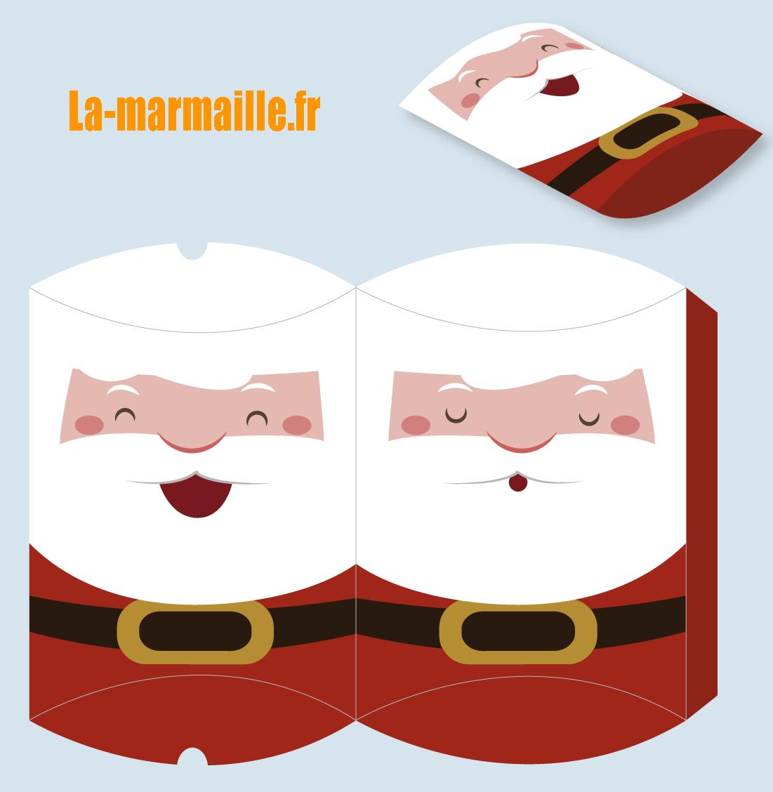 Diy Noël : Emballage Cadeau À Imprimer pour Pere Noel A Imprimer Et A Decouper
