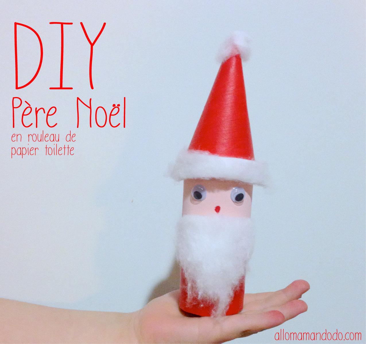 Diy Père Noël, Super Activité Pour Les Enfants! (Rouleau De concernant Fabrication De Pere Noel