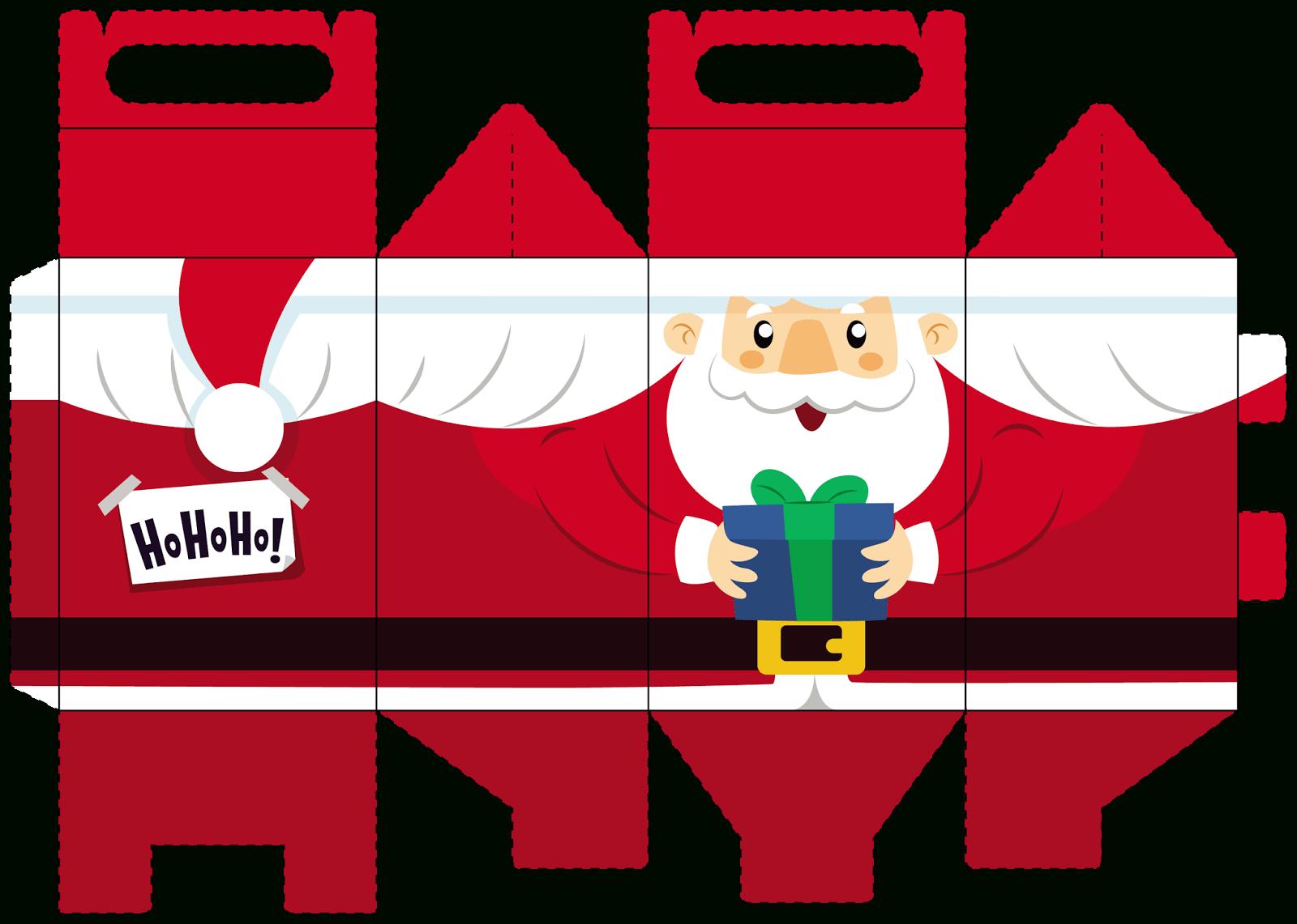 Diy: Sélection De Boites De Noël À Imprimer Et À Remplir serapportantà Pere Noel A Imprimer Et A Decouper
