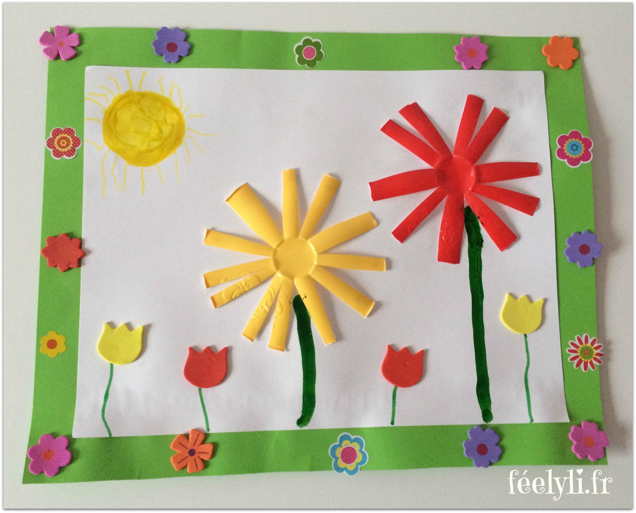Diy : Son Joli Bouquet De Printemps Fait De Pompons (L'art serapportantà Activité Manuelle Enfant 4 Ans