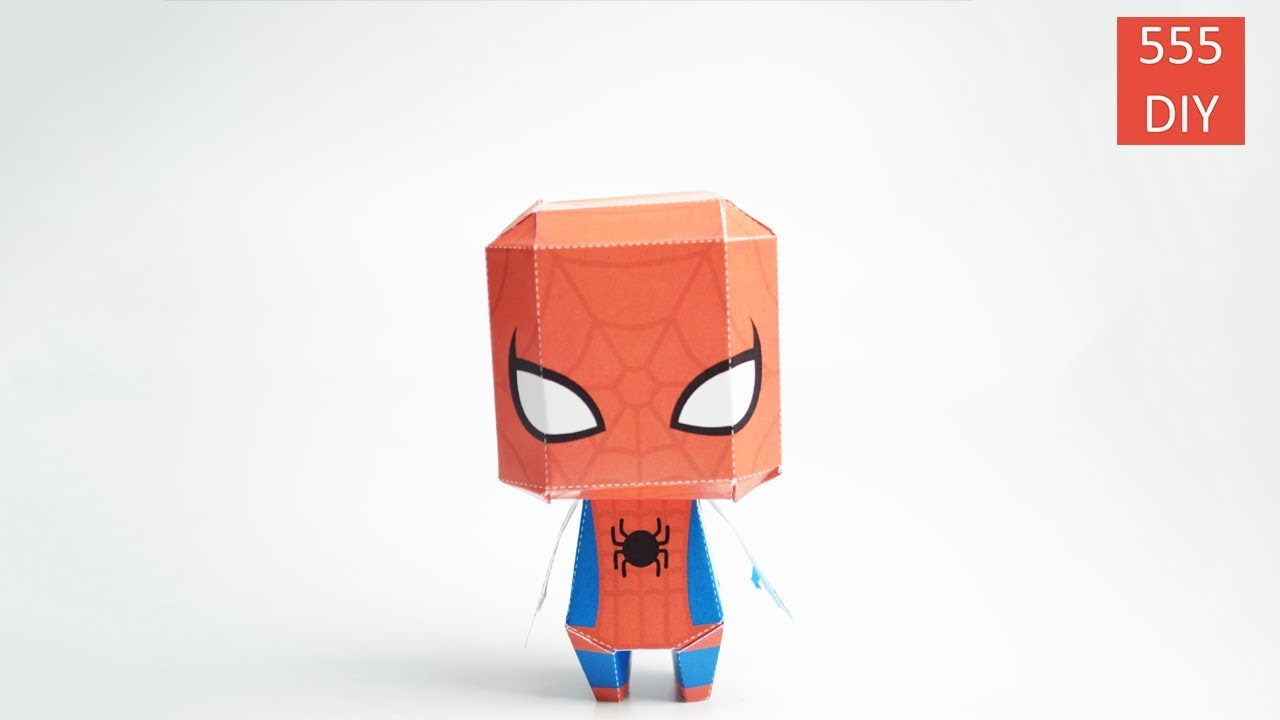 Diy Super Hero Marvel Spiderman Paper Craft intérieur Masque Spiderman A Imprimer