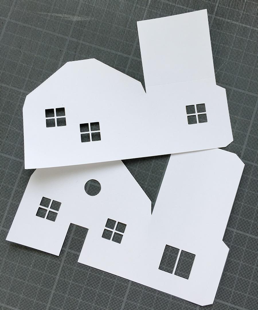 Diy : Un Village De Noël En Papier   Pour Mes Jolis Mômes tout Maison Papier A Decouper
