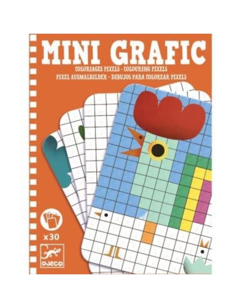 Djeco Mini Grafic - Coloriages Pixels à Jeu De Coloriage Pixel