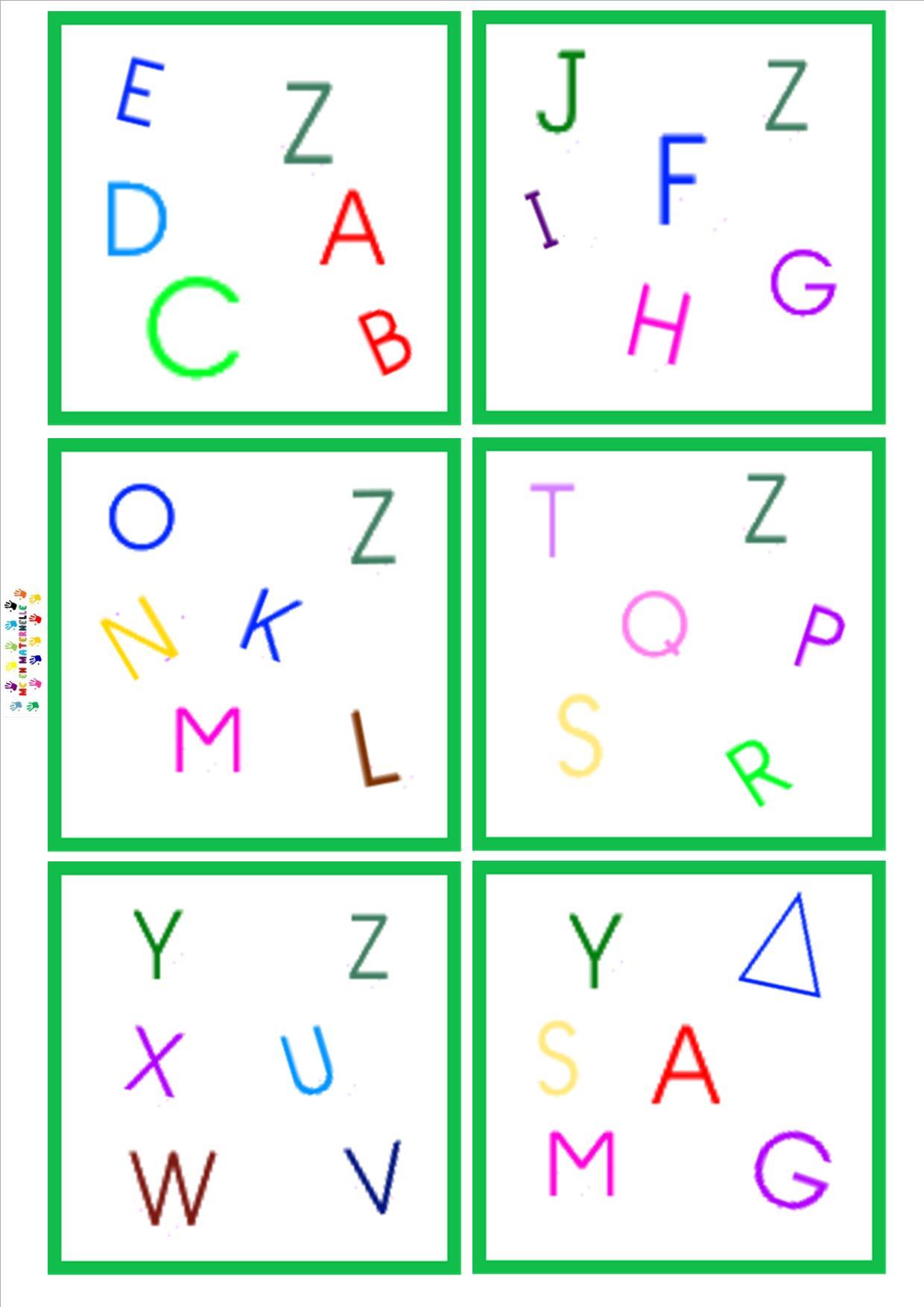 Dobble : Lettres Majuscule – Mc En Maternelle dedans Alphabet En Pointillé A Imprimer