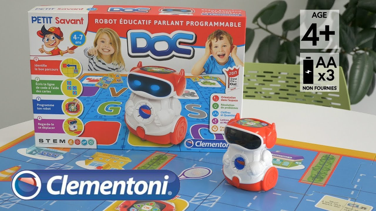 Doc, Robot Parlant Educator (Grand Prix Du Jouet, Etoile Du Jouet 2017) - Demo In English Hd Fr for Educational Games 4 5 years