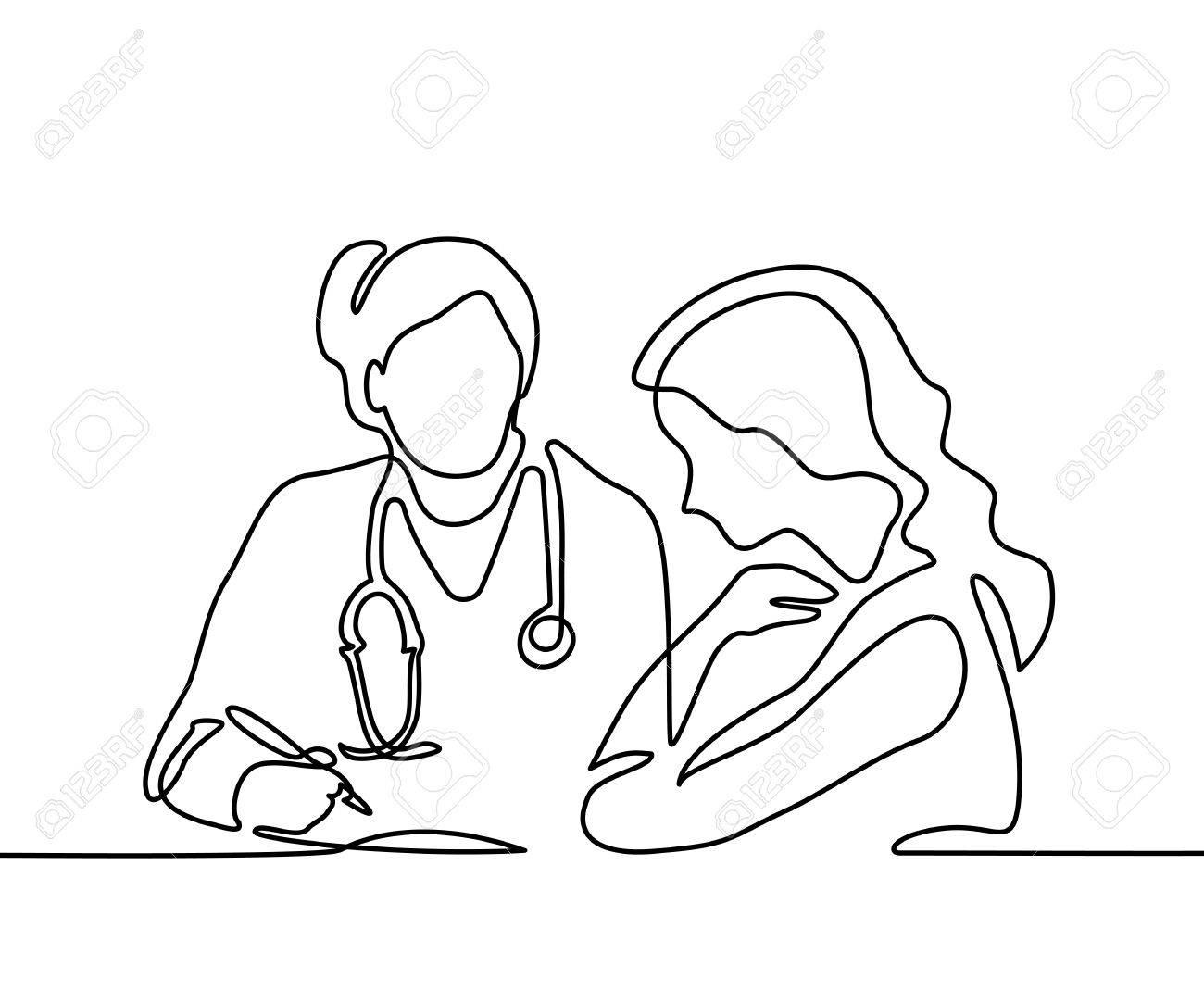 Docteur Avec Stéthoscope Prescrire Une Ligne De Chat . Dessin Animé .  Vector Illustration Sur Fond Blanc intérieur Dessin Stéthoscope
