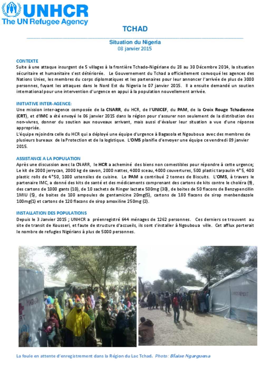 Document - Tchad: Urgence Sur Le Lac #1 tout Nombre De Region