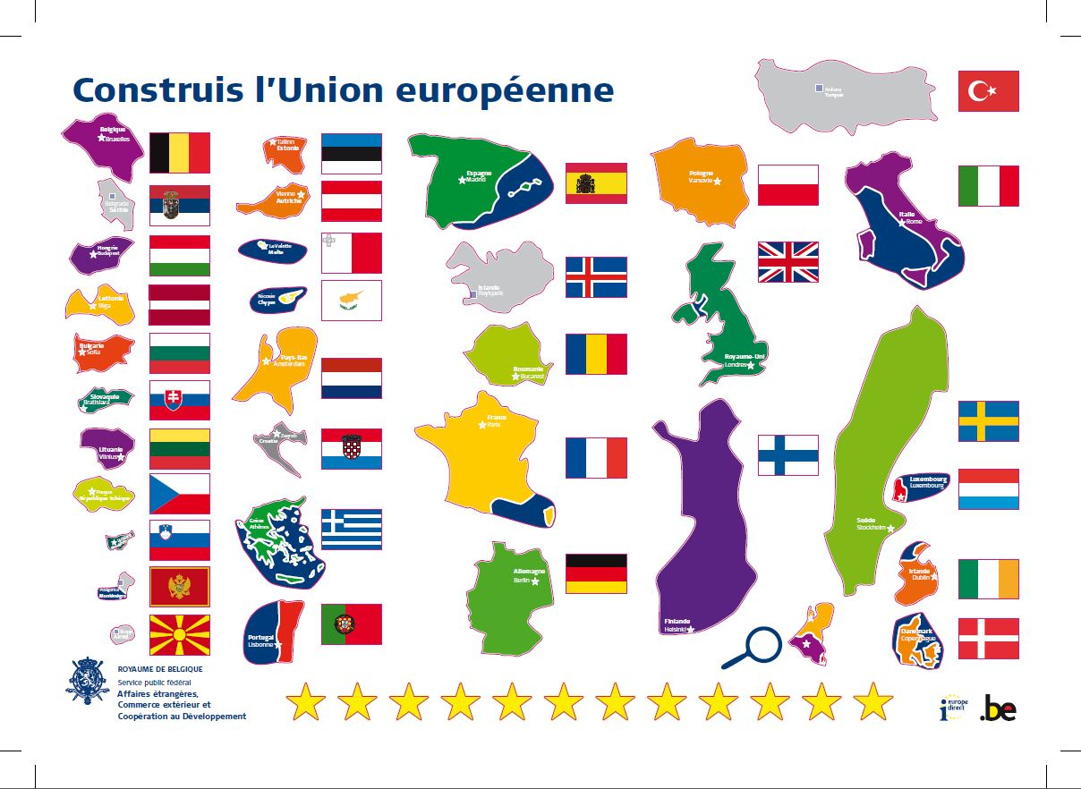 Documentation Sur L'ue | Service Public Fédéral Affaires concernant Carte De L Union Europeenne