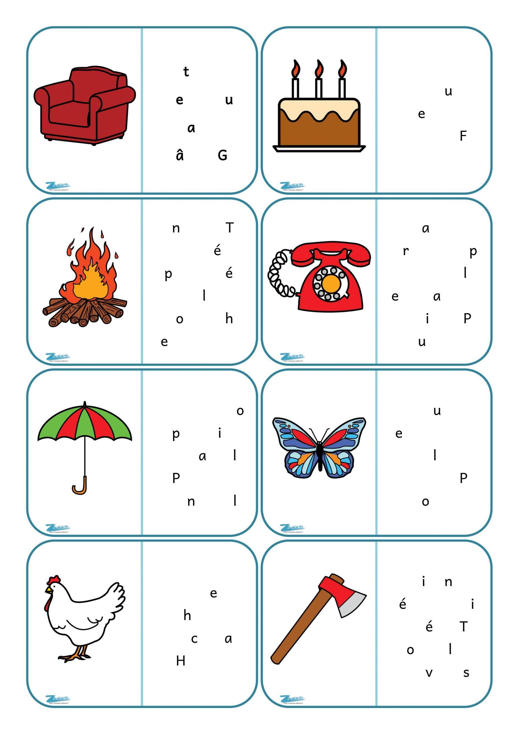 Dominos De Lecture. | Jeux Éducatifs Maternelle, Jeux De serapportantà Jeux De Lettres À Imprimer
