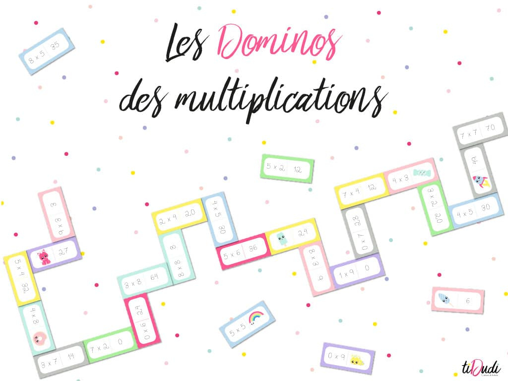 Dominos Des Tables De Multiplication tout Tables De Multiplication Jeux À Imprimer