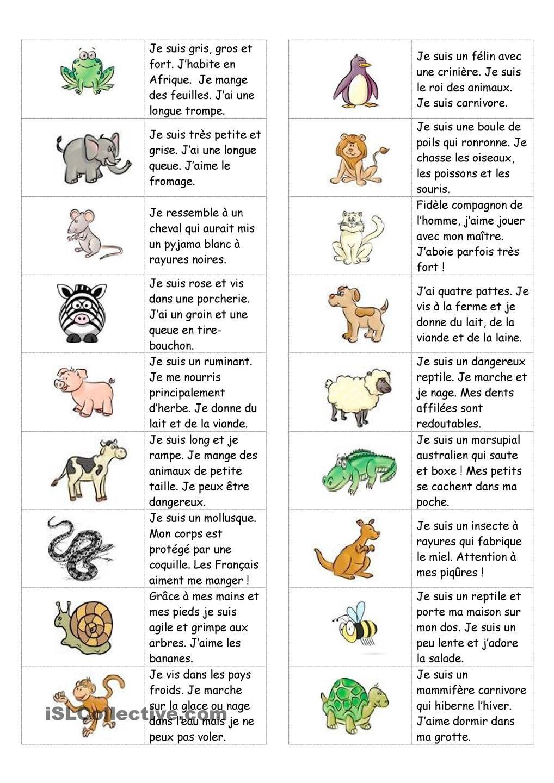 Dominos Sur Les Animaux (Avec Texte) | Devinette Animaux concernant Jeux D Animaux Pour Fille