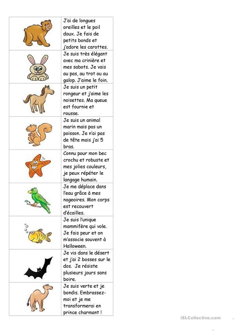 Dominos Sur Les Animaux (Avec Texte) | Devinette Animaux tout Jeux D Animaux Pour Fille