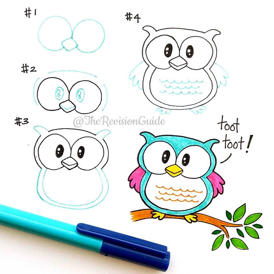 Doodles And Lettering From Instagram/therevisionguide tout Dessin Hibou Facile