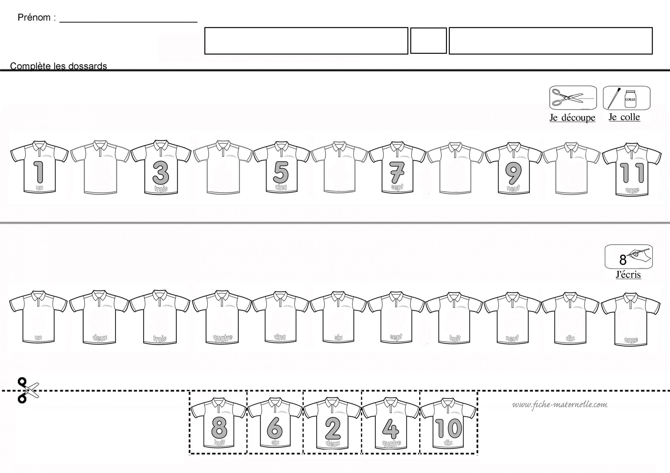 Doplň A Dopíš Číselný Rad | Jeux Mathématiques pour Jeux Maternelle Grande Section