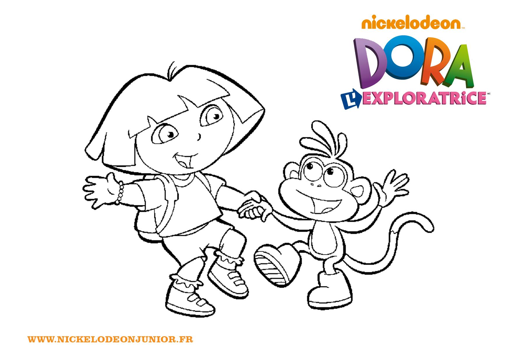 Dora Danse Avec Babouche pour Coloriage Dora Princesse