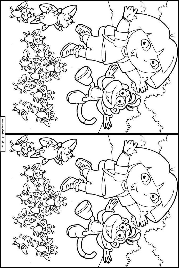 Dora L'exploratrice 46 Trouver Les Différences. Activités intérieur Trouver Les Difference