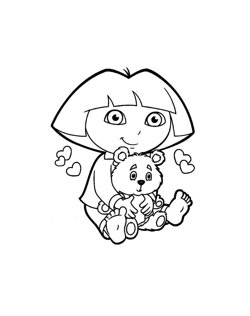 Dora Lexploratrice 7 - Coloriages De Dora L'exploratrice pour Coloriage Dora Princesse