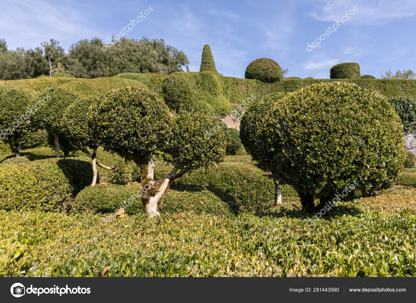 Dordogne France September 2018 Topiary Gardens Jardins dedans Region De France 2018