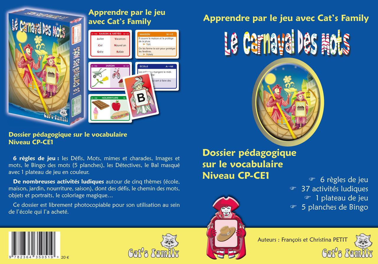 Dossier Pédagogique Le Carnaval Des Mots - Niveau Cp-Ce1 à Jeux Educatif Ce1