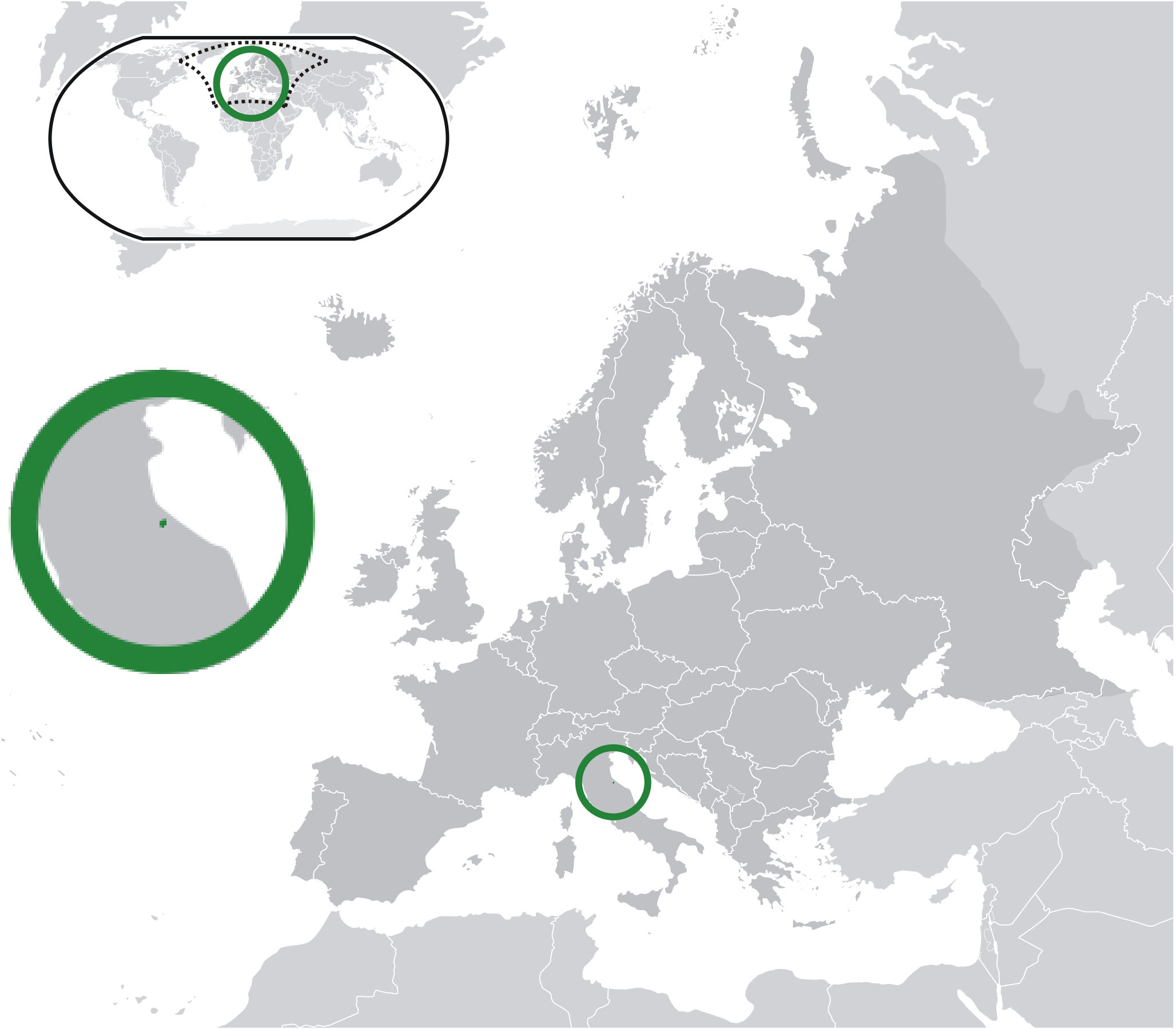 Dosya:location San Marino Europe - Vikipedi à Carte Des Pays D Europe