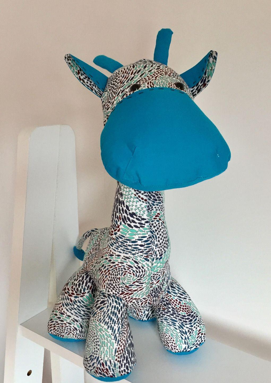 Doudou Grande Girafe Tissu Liberty Shoals : Jeux, Peluches tout Jeux De Girafe Gratuit