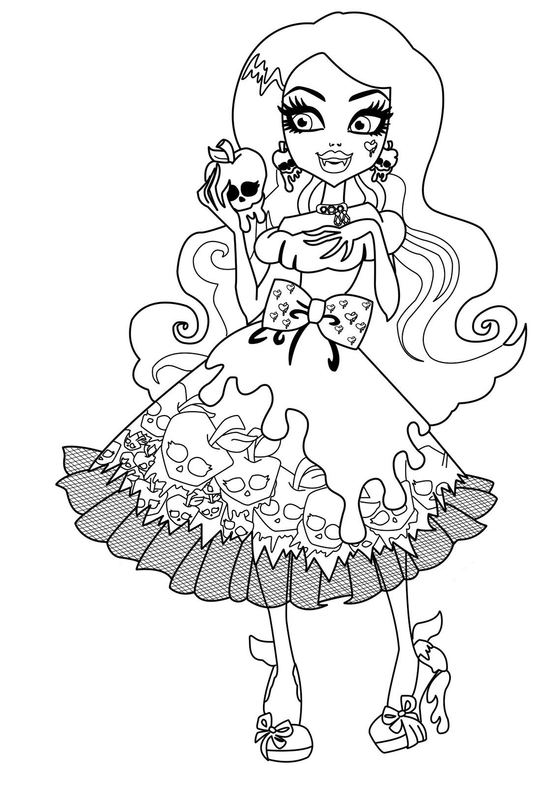 Draculaura Monster High Dolls Coloring Pages Monster High pour Image Monster High A Imprimer
