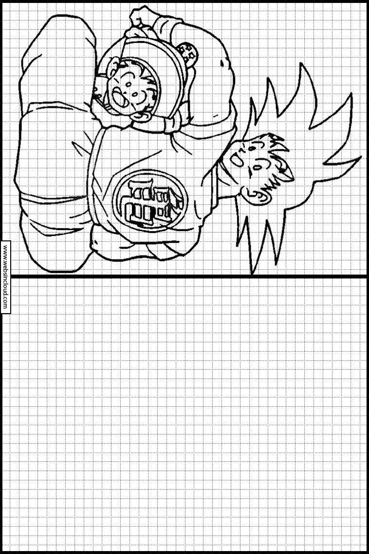 Dragon Ball Z 87 Apprendre À Dessiner. Activités Pour Les pour Dessin Symétrique A Imprimer