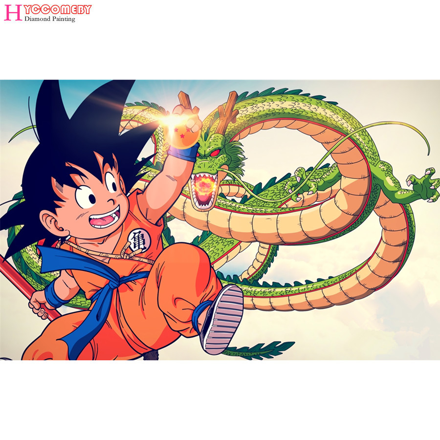Dragon Ball Z - Diamant Broderie, Plein, Carré/rond. à Dessin Animé De Dragon Ball Z