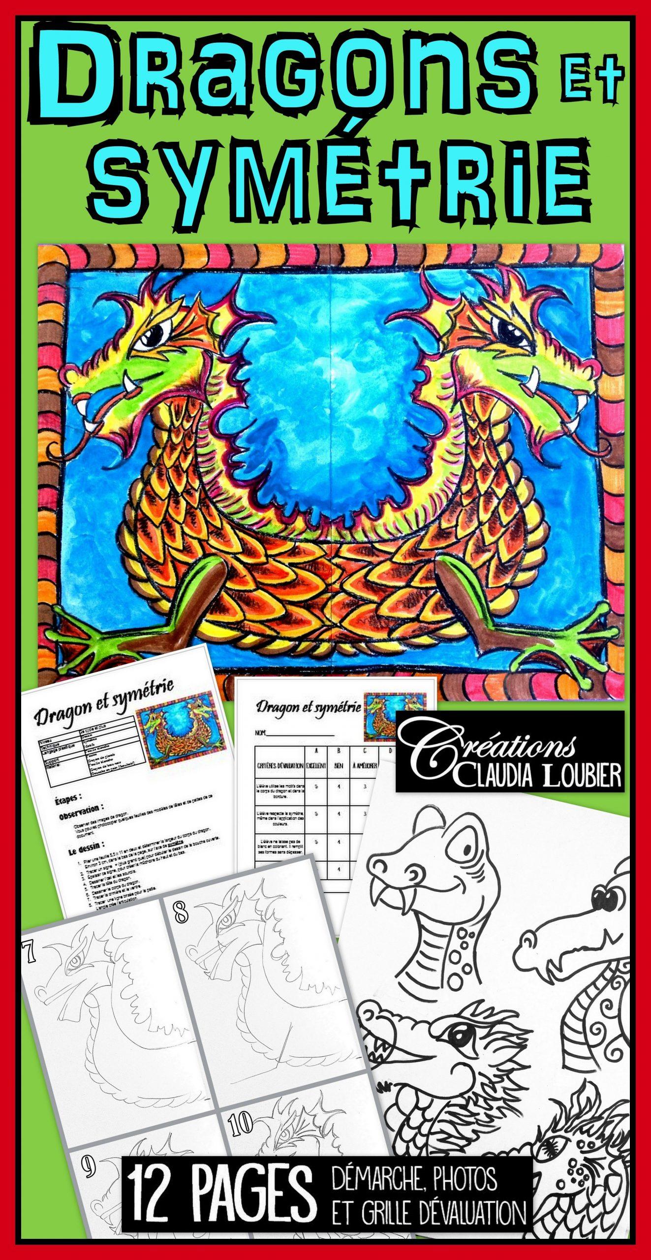 Dragon Et Symétrie: Projet D'arts Plastiques   Art Plastique tout Arts Visuels Symétrie