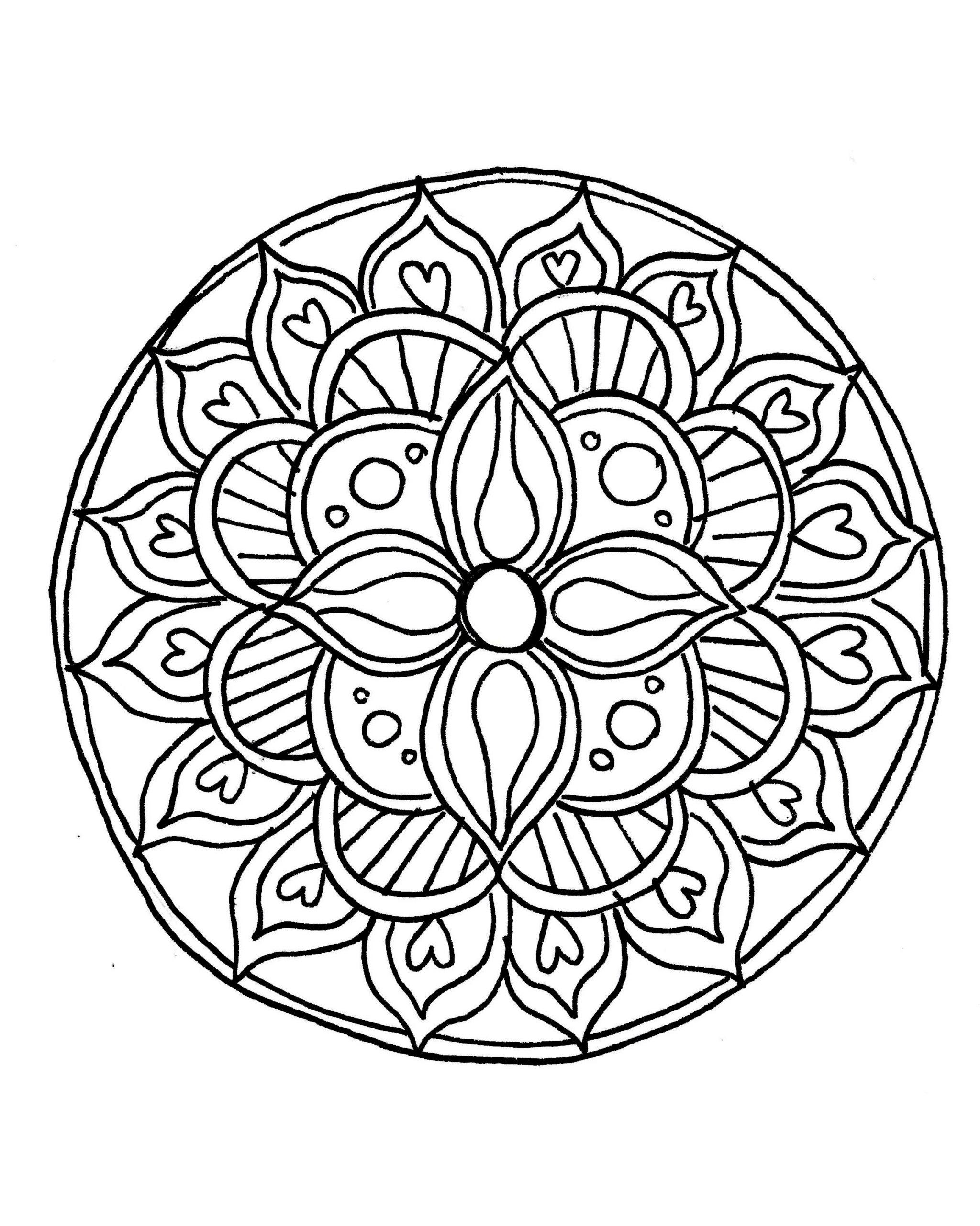 Draw A Mandala Freehand! | Mandala Coloring Pages, Simple à Mandala Fée