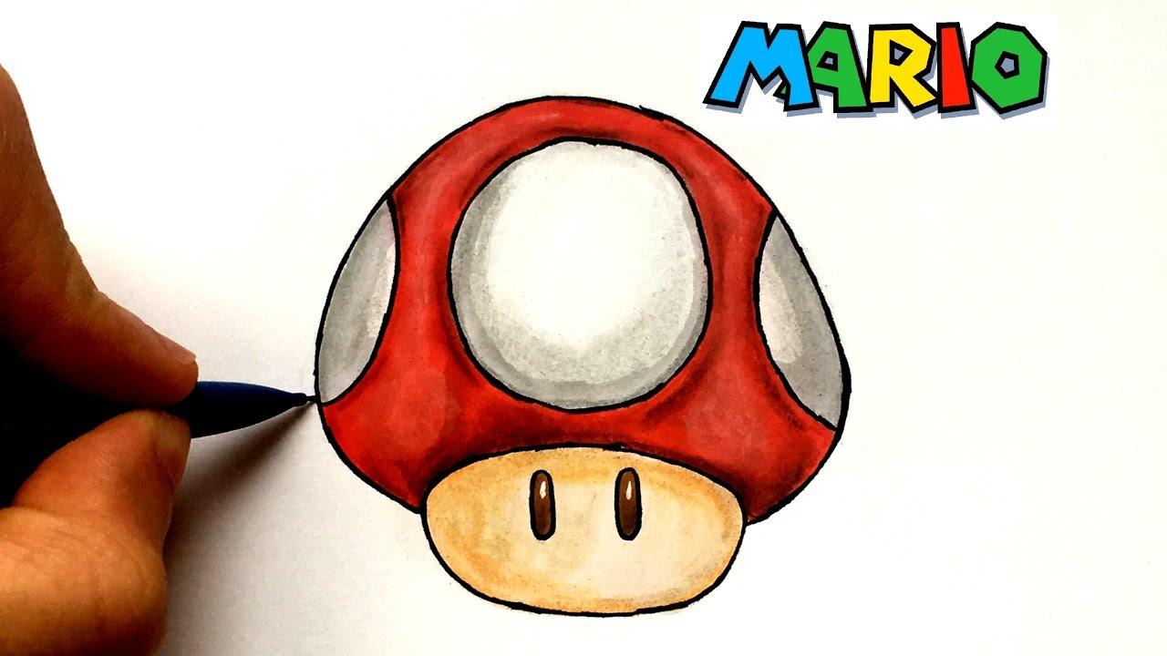 Draw Mushroom - Mario concernant Dessiner Un Champignon