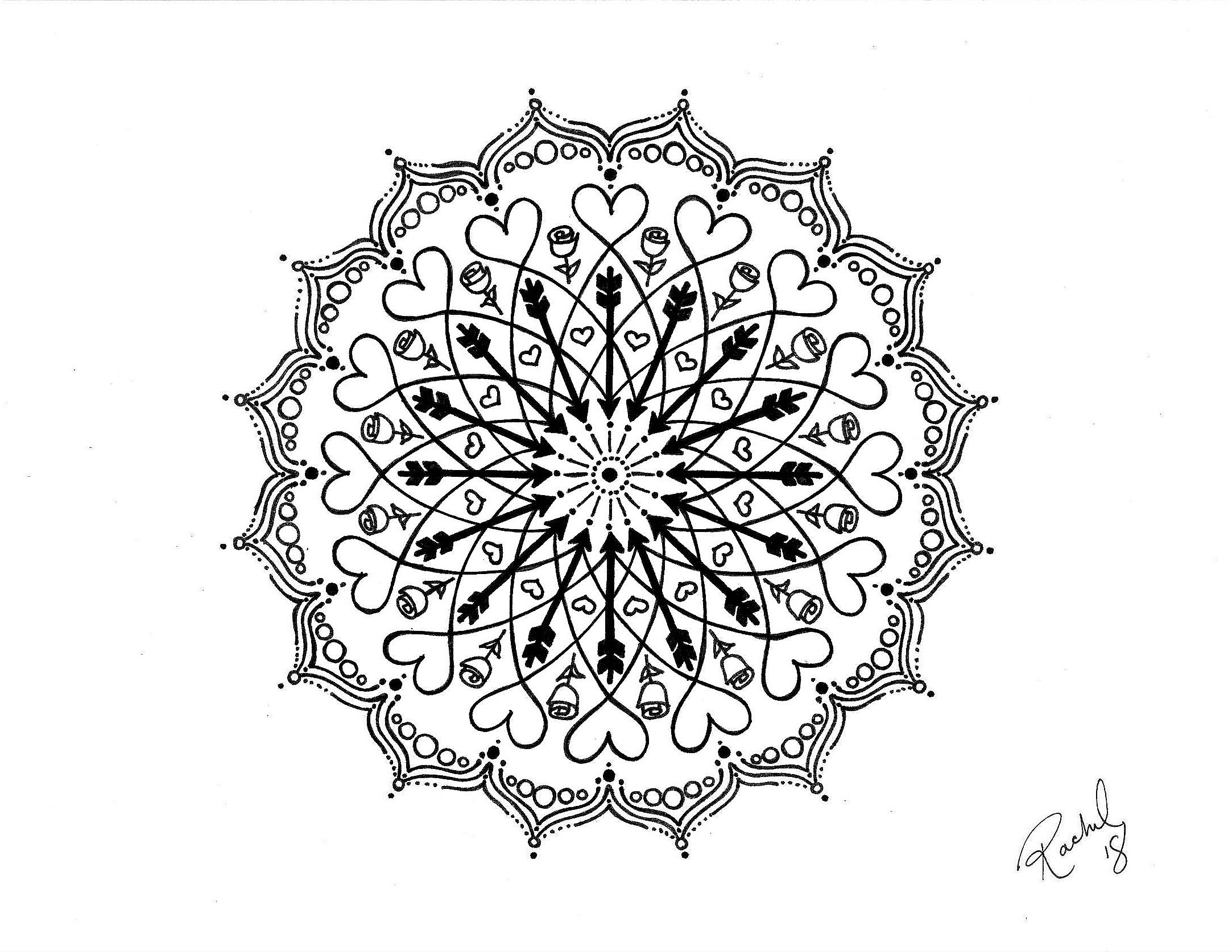 Drawing Mandalas Workshop – Huntingdon County Arts Council encequiconcerne Mandala Fée