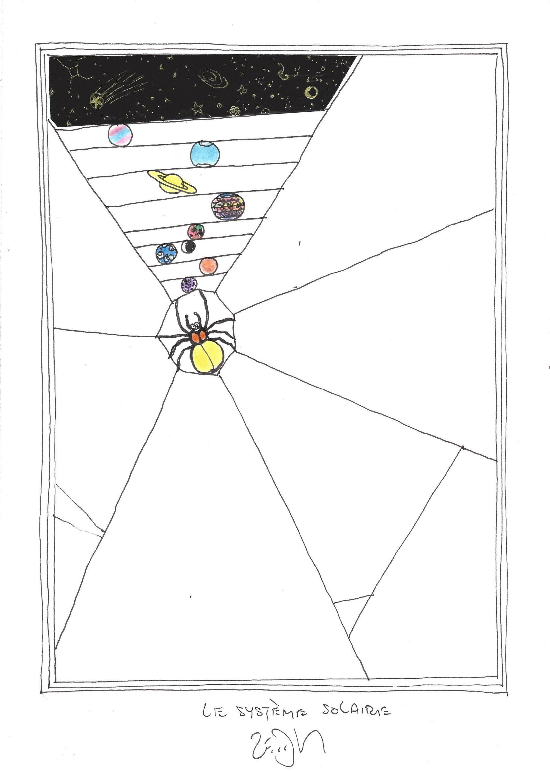 Drawing Of The Day – 1831 – Dessin Du Jour | Frank Eric Zeidler avec Dessin Du Système Solaire