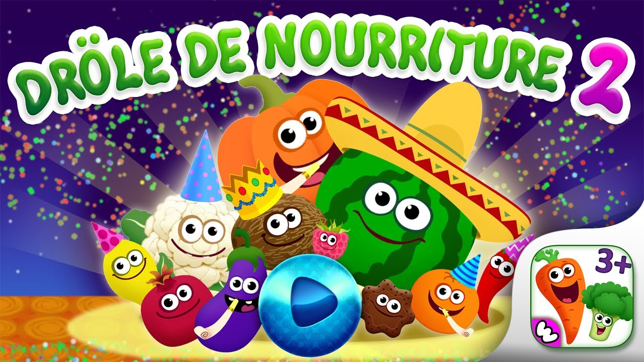 """""""drôle De Nourriture! Jeux Educatif Pour Enfants Et Jeux Bebe 2 Ans! (Fr) à Jeux Educatif 2 Ans"""