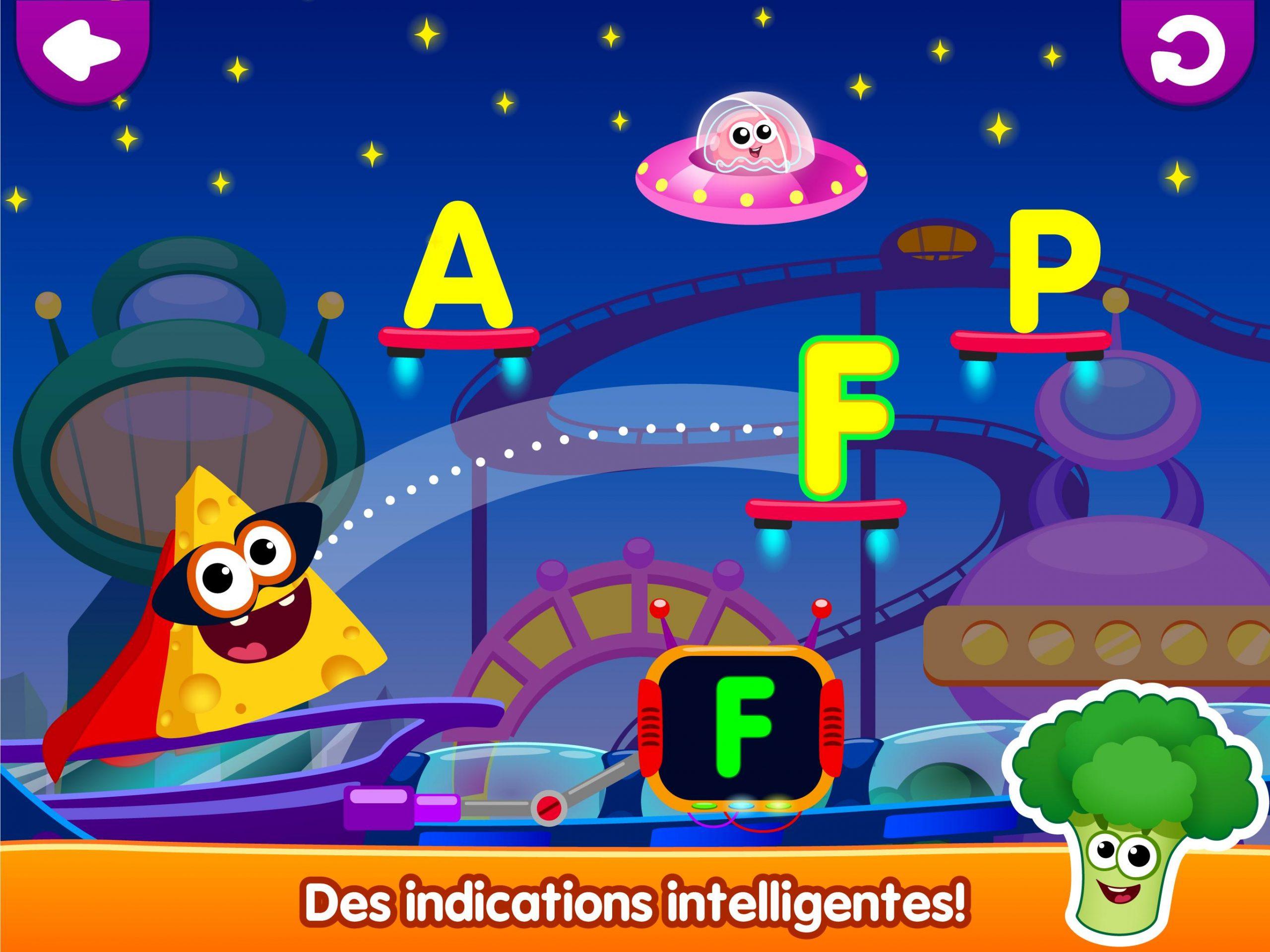 Drôle De Nourriture🥦 Jeux De Lettres Pour Enfants Pour avec Jeux De Lettres Enfants