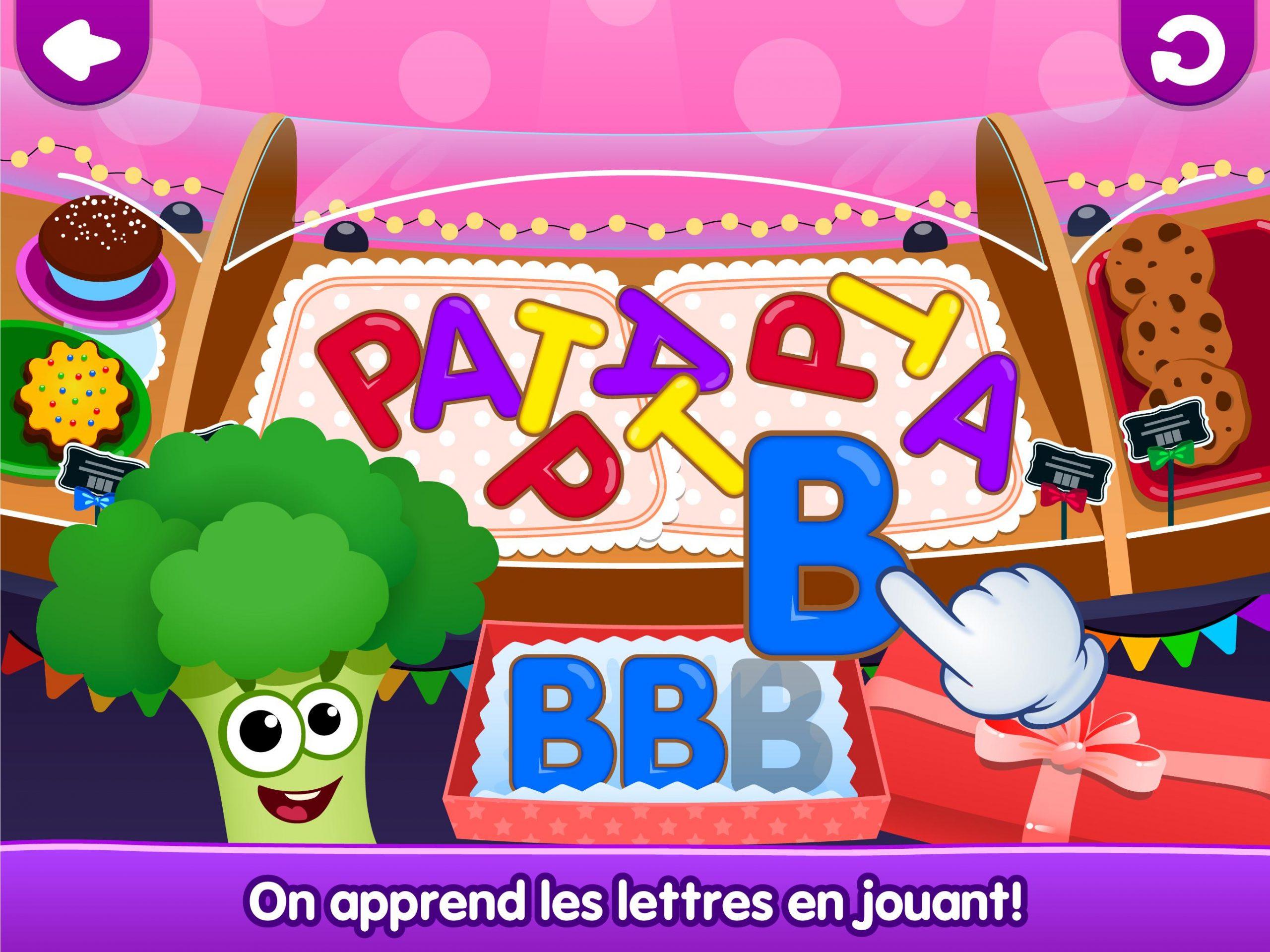 Drôle De Nourriture🥦 Jeux De Lettres Pour Enfants Pour pour Jeux De Lettres Enfants