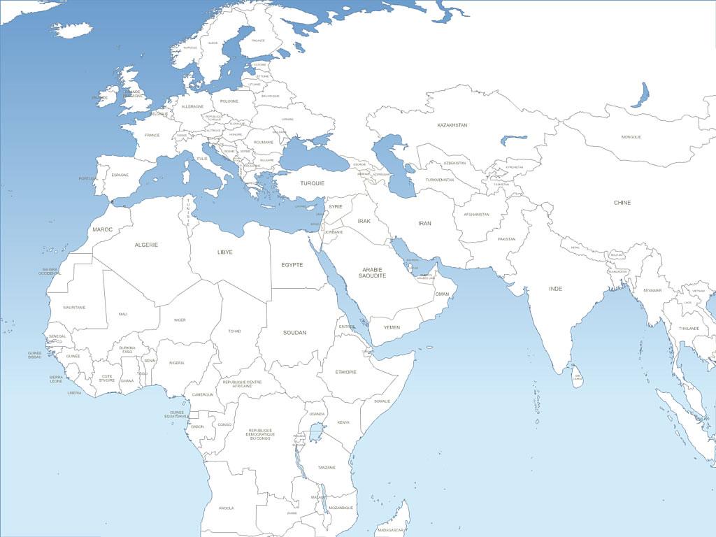 Du Moyen Orient, Maghreb, Europe, Pays Arabes Et Ouest Asie dedans Carte Des Pays D Europe