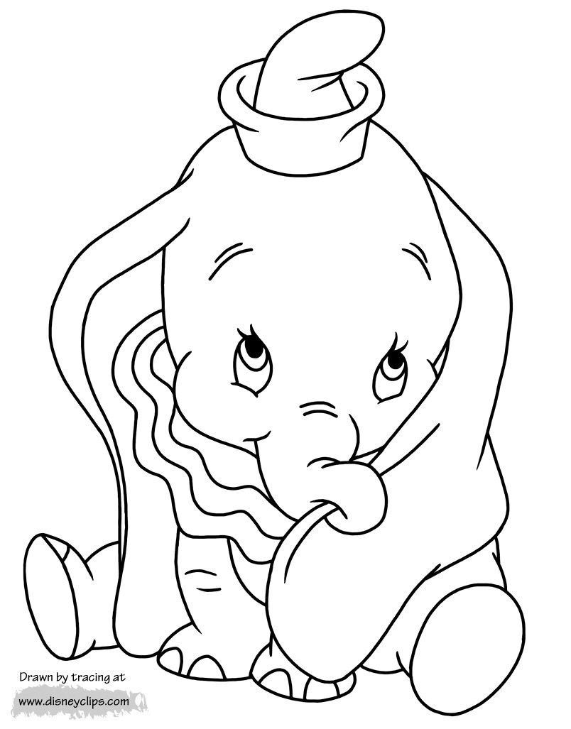 Dumbo Coloring Pages Disneys Dumbo Coloring Pages 2 concernant Dessin Dumbo