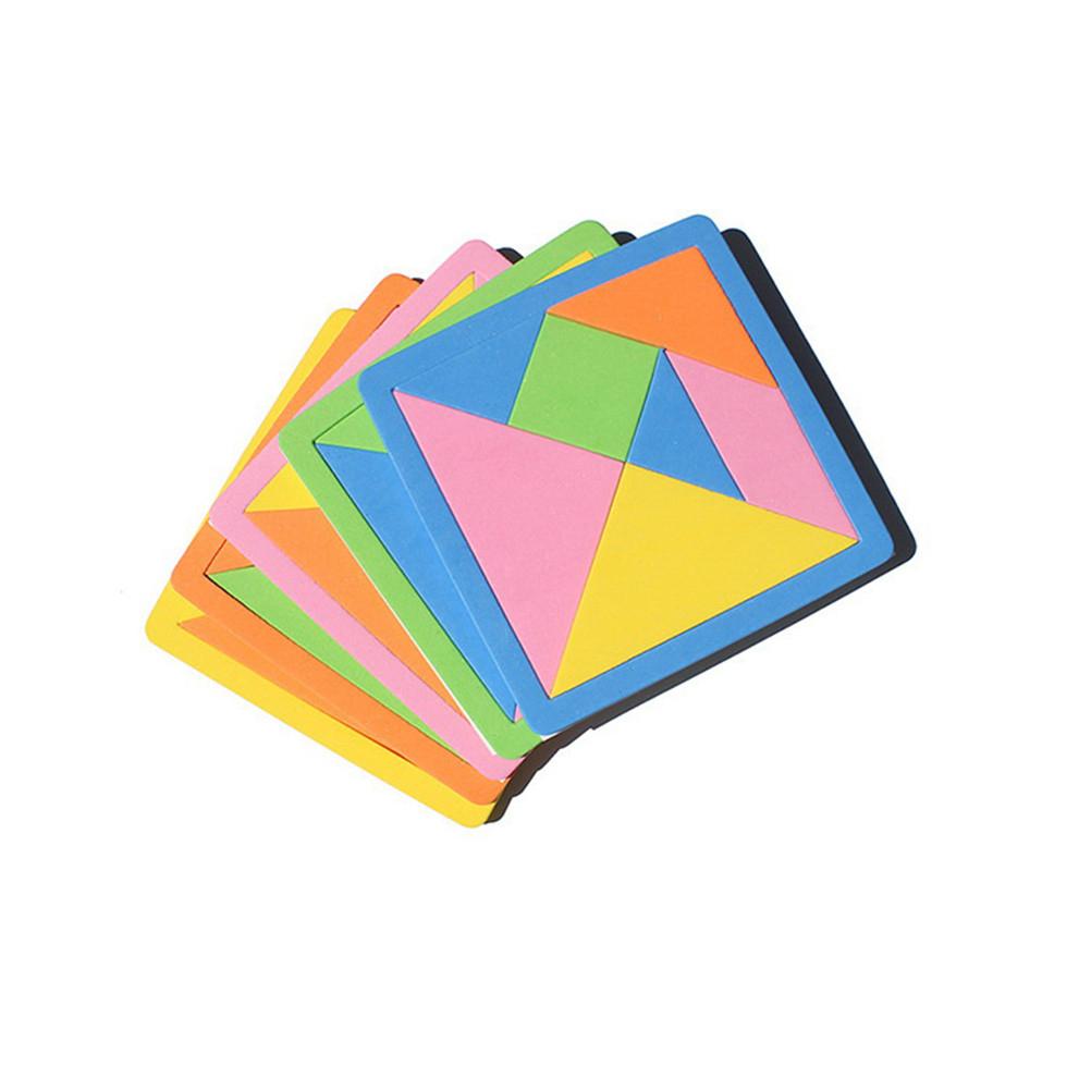 €0.39 22% De Réduction|Eva 3D Puzzle Tangram Teaser Tetris Forme  Géométrique Jeu De Puzzle Apprentissage Éducation Puzzle Jouets Pour  Enfants|Puzzles| dedans Jeu De Forme Géométrique