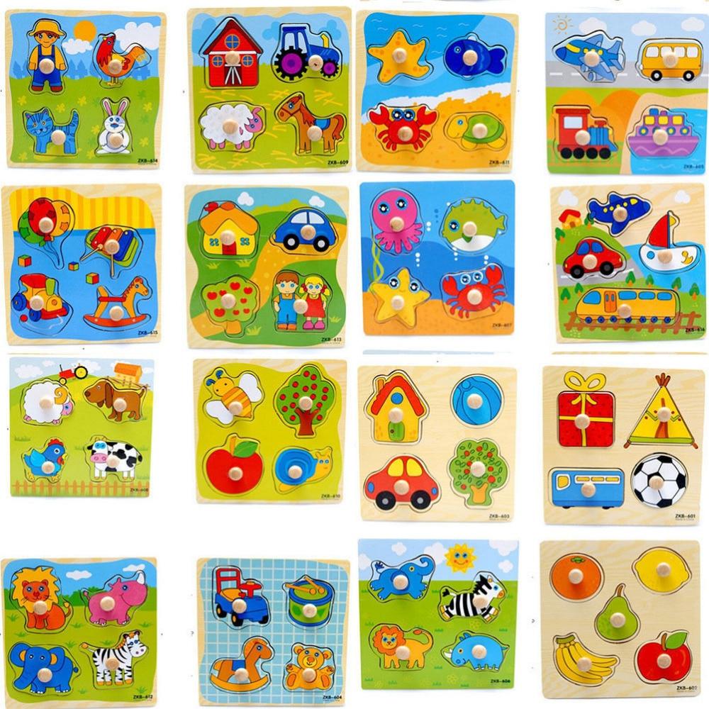 €1.54 32% De Réduction|Puzzle Coloré En Bois Puzzles Animal Dessin Animé  Éducatif Apprentissage Jouet Pour Bébé Enfants Jeux Jouet Cadeaux Beaucoup  De tout Jeux Enfant Dessin