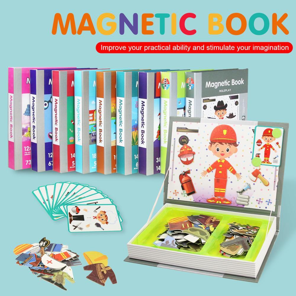 €11.56 30% De Réduction|9 Types De Livre Magnétique Intelligent Pour  Enfants 3D Puzzles Puzzle Jeu De Formation Du Cerveau Jouets Éducatifs Pour à Jeux Intelligents Pour Enfants