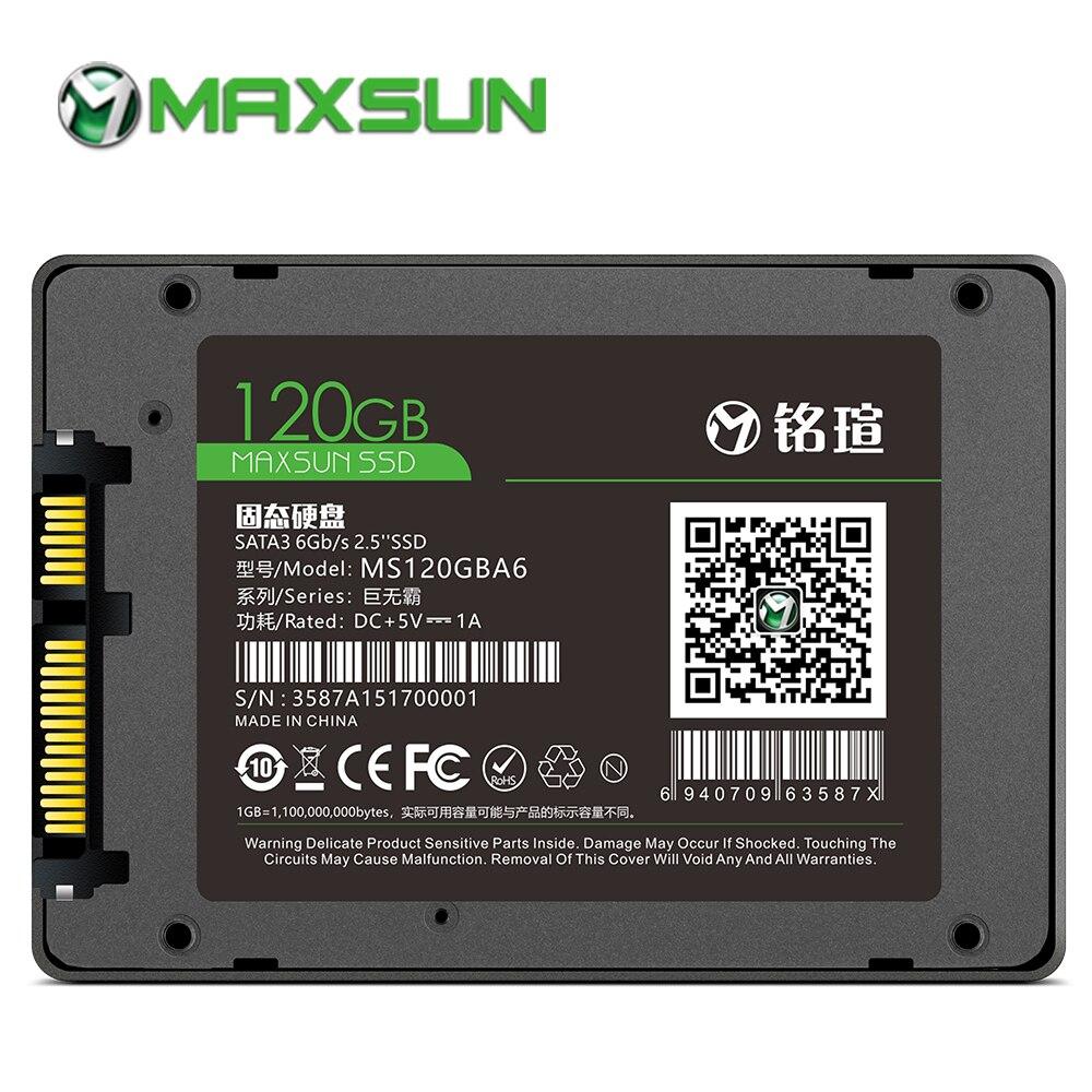 €21.87 40% De Réduction Maxsun Ssd 120 Gb 2.5 Pouces Ssd Sata Iii 3D Nand  Flash 3 Ans De Garantie Tlc Smi Ssd 120 Gb Disque Solide Interne Pour destiné Ordinateur 3 Ans