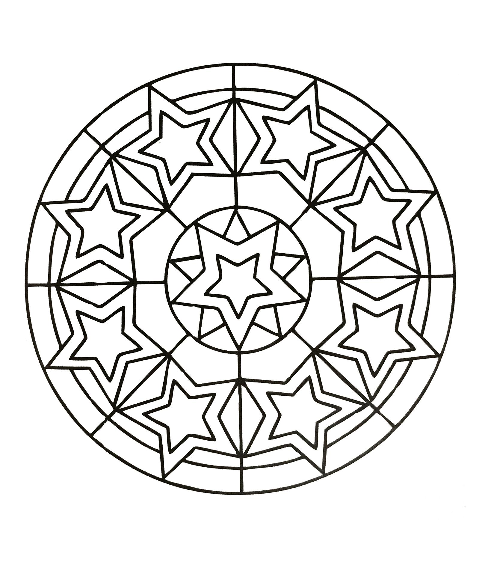 √ Coloriage Mandala À Imprimer Gratuit Facile | Mandala Lion destiné Mandala À Imprimer Facile