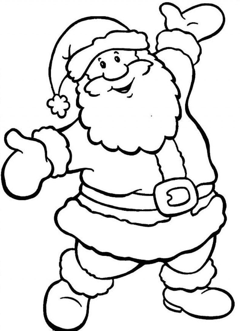 ▷ 1001 + Idées | Coloriage De Noël – Pour Des Fêtes Pleines concernant Dessins Pere Noel Imprimer