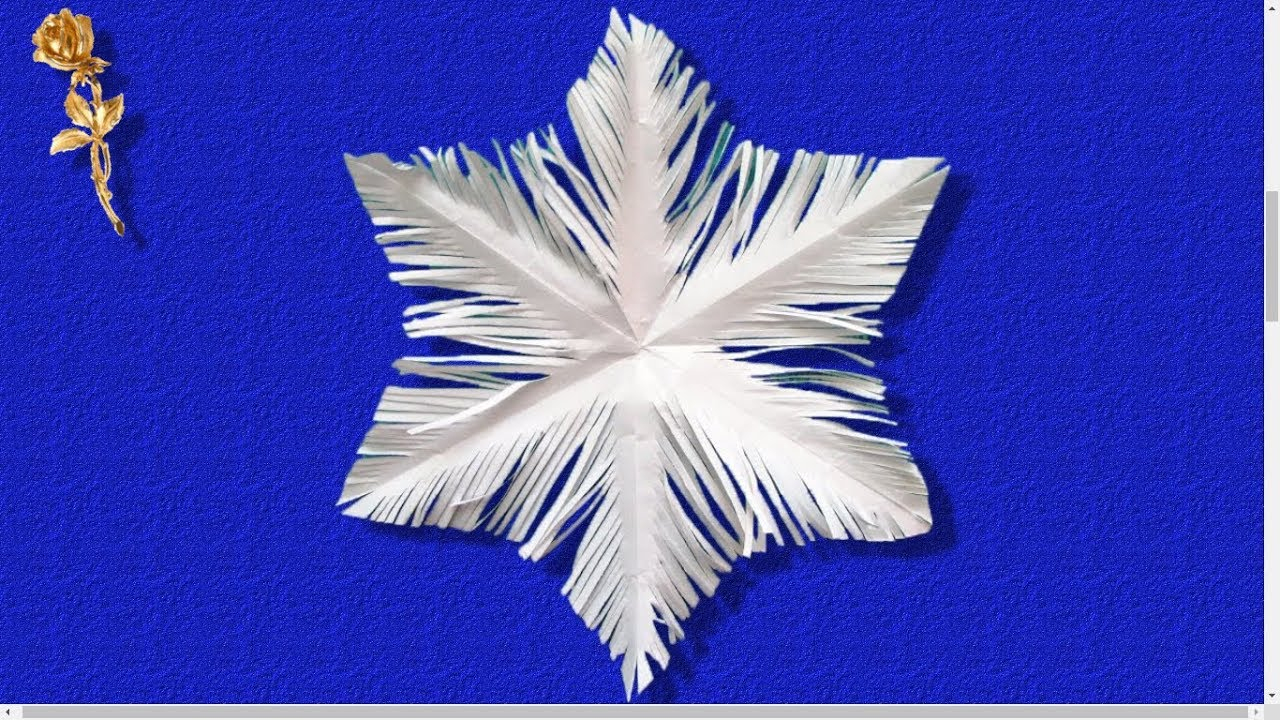 ❄ Flocon De Neige ✂ Découpé En Papier pour Decoupage Papier Facile