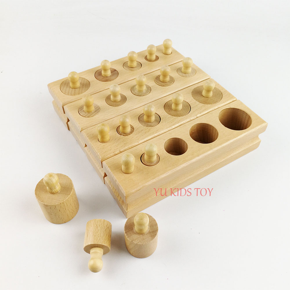 €6.52 30% De Réduction Montessori Matériaux Montessori Jouets Jeux  Éducatifs Cylindre Douille Blocs En Bois Maths Jouets Pour Enfants 1 2 3  Ans concernant Jeux Educatif Enfant 2 Ans