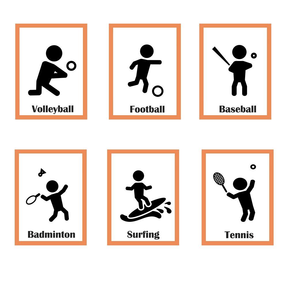 €7.27 40% De Réduction|Sport Anglais Enfants Montessori Carte Educativos  Enfants Football Anglais Mot Cartes Mémoire Bébé Apprentissage Pe Jeu De dedans Jeux De Mots Enfants